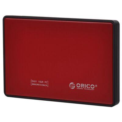 """ORICO 2,5"""" SATA3 HDD KÜLSŐ HÁZ USB 3.0 PIROS 2588US3"""