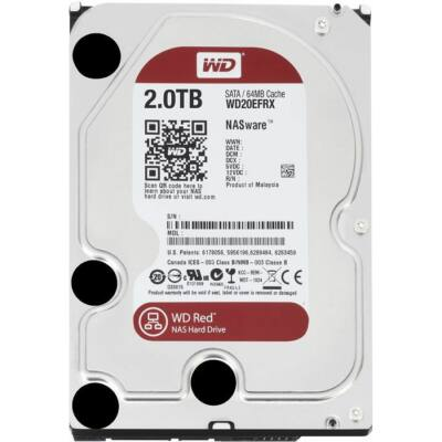 """2TB WD 3.5"""" SATA-III 64MB Red NAS winchester"""