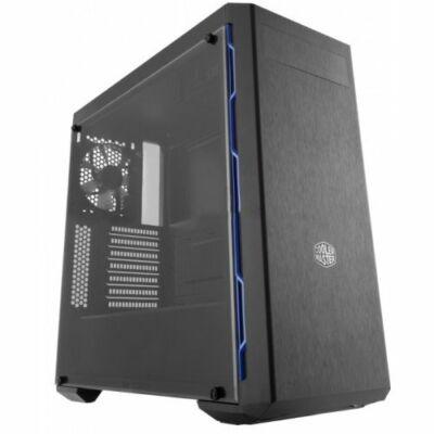 Cooler Master MasterBox MB600L táp nélküli ablakos ház fekete kék