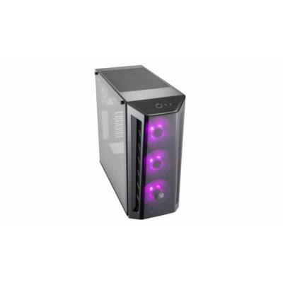 Cooler Master MasterBox MB520 RGB táp nélküli ablakos ház fekete